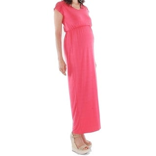 Everly Grey NEW Pink Women's Size XS Maternity Lace Knit Maxi Dress