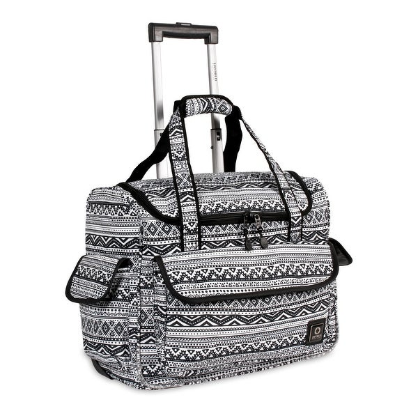 J World New York DONNA Travel Rolling Tote TRIBAL. Opens flyout.