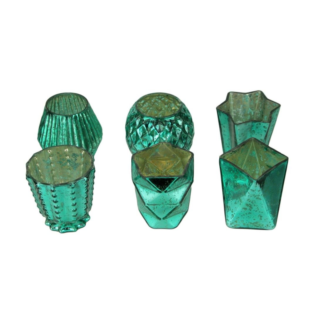 Candle Holders 3 Diameter Green Plastic Pack of 10