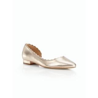 Talbots NEW Metallic Silver Size 9.5 Perlato Nappa Leather Edison Flats