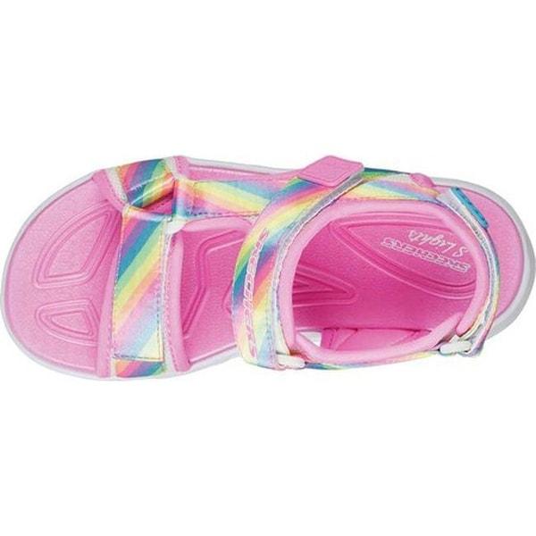Skechers Girls/'   S Lights Hypno-Splash Rainbow Lights Sport Sandal