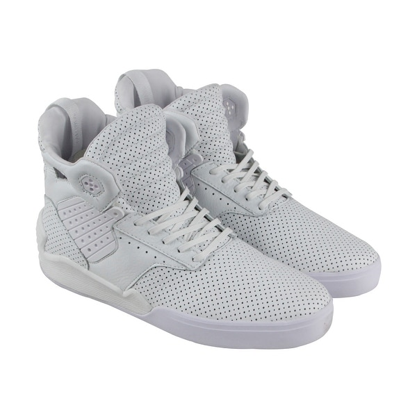 93d206ff9c06 Shop Supra Skytop Iv Mens White Leather High Top Lace Up Sneakers ...