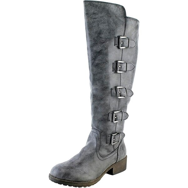 Madden Girl Minlin Women Round Toe Synthetic Knee High Boot