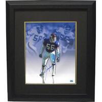 Lawrence Taylor signed New York Giants 16X20 Photo Custom Framed Metallic Collage Taylor Hologram