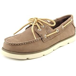 Sperry Top Sider Leeward 2-Eye Moc Toe Leather Boat Shoe