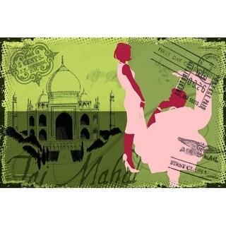 Marmont Hill Travel Taj Mahal Saturday Evening Post Painting Print on Canvas