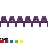 "2xhome - Set of 6 - Kids  Plastic Side Chair 12""  Teal Armless Metal"