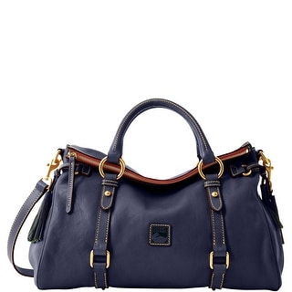 Dooney & Bourke Florentine Medium Satchel (Introduced by Dooney & Bourke at $398 in Oct 2012) - Navy