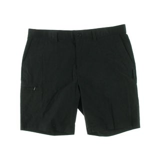 Greg Norman Mens Big & Tall Flat Front Solid Walking Shorts