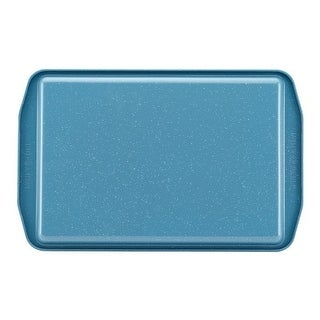 Paula Deen 46250 Speckle Nonstick Bakeware 11 x 17 in. Cookie Pan, Gulf Blue Speckle
