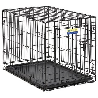 MidWest 830 Contour Single-Door Folding Dog Crate with Divider Panel, 30""