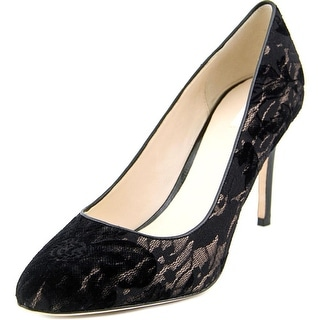 Cole Haan Bethany Pump .85 Women Pointed Toe Canvas Black Heels