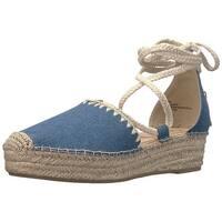 Nanette Lepore Womens bruna Fabric Closed Toe Casual Platform Sandals