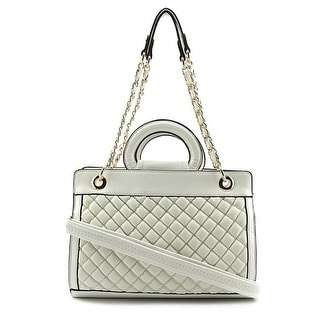 MG Collection Sylvia Quilted Tote    Synthetic  Tote - White