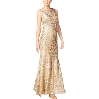 Calvin Klein Womens Evening Dress Embroidered Sequined