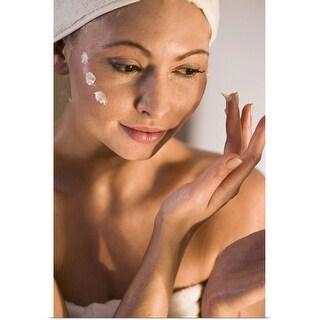 """""""Woman at a spa"""" Poster Print"""