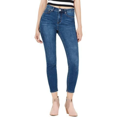 Indigo Rein Womens Juniors Ankle Jeans Denim High Rise
