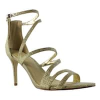Marc Fisher Womens Blaize Gold Strappy Heels Size 8