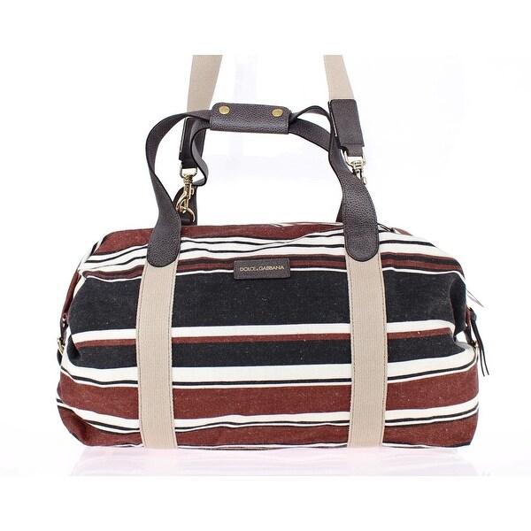 Shop Dolce   Gabbana Multicolor striped boston bag - One Size - Free ... 02a4ad669f790