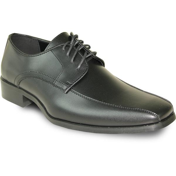 VANGELO Men Dress Shoe TUX-5 Oxford Formal Tuxedo for Prom & Wedding Shoe Black Matte -Wide Width Available