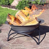 Sunnydaze Dark Gray Wood-Burning Cast Iron Fire Pit Bowl - 24-Inch Diameter