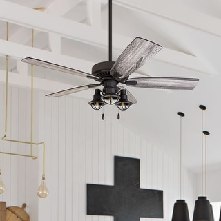 Link to The Gray Barn Kedelston 52-inch Coastal Indoor LED Ceiling Fan with Pull Chains 5 Reversible Blades - 52 Similar Items in Ceiling Fans