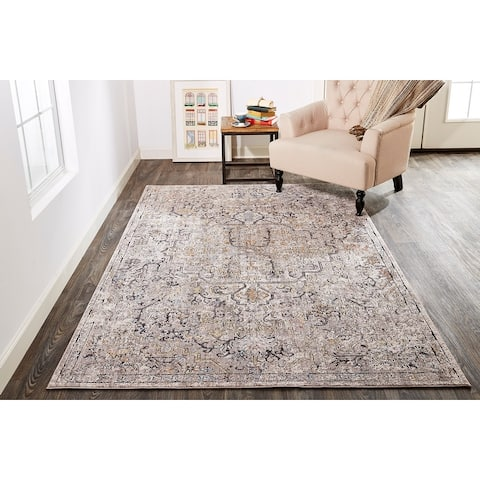 Copper Grove Mezieres Grey Machine Made Transitional Rug