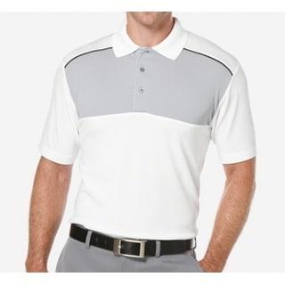 PGA Tour NEW White Mens Size Small S Colorblock Airflux Golf Shirt
