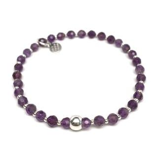 "Purple Amethyst Kara 7 1/4"" Bracelet"