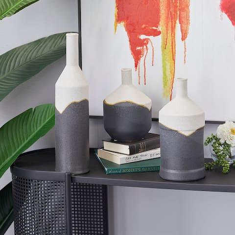 CosmoLiving by Cosmopolitan Ceramic Modern Vase 17 x 4 x 4 - 4 x 4 x 17