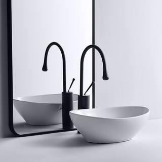"Eridanus 16"" Oval Ceramic Bathroom Vessel Sink Wash Basin"