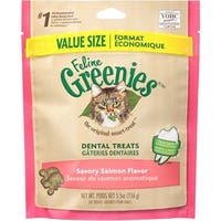 Greenies Feline Dental Treat Savory Salmon 5.5oz