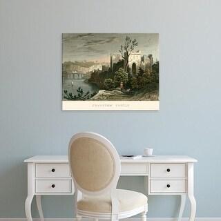 Easy Art Prints T. Allom's 'Chepstow Castle' Premium Canvas Art