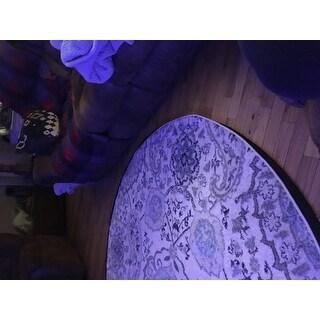 "Safavieh Madison Belle Paisley Boho Glam Cream/ Light Grey Rug - 6'7"" x 6'7"" Round"