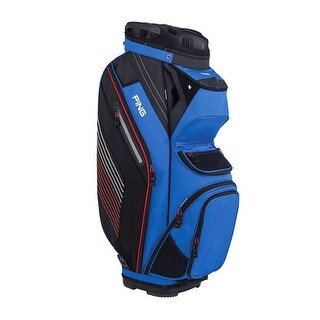 New Ping 2018 Pioneer Golf Cart Bag (Blue / Black / Red) - blue / black / red