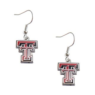 Texas Tech Raiders Dangle Logo Earring Set NCAA Charm Gift