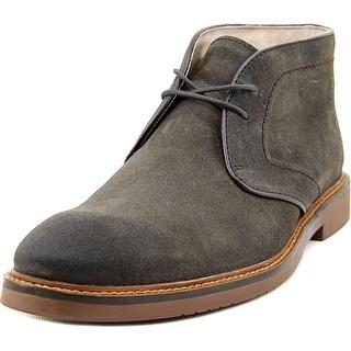 Aston Grey Collection Uptown Men Round Toe Suede Gray Chukka Boot