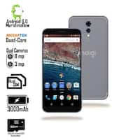 Indigi Unlocked 4G LTE 5.6-inch Android 6.0 Quad-Core 1.2GHz SmartPhone (1GB RAM + Fingerprint Unlock + 32gb microSD) Black