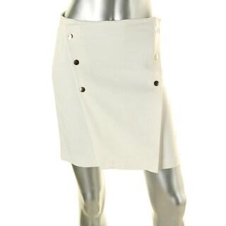 Zara Basic Womens Knee-Length Button Detail Pencil Skirt