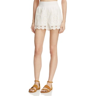 Beltaine Womens Dress Shorts Embroidered Cut-Out (Option: Ivory - S)