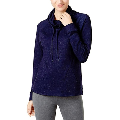 Women's Funnel Neck Pull Over Tunic Ht Eclip Co Sd Size Large by 32 Degrees Heat - Blue - Small