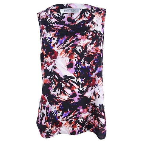 Kasper Women's Printed Blouse - Regal Purple Multi