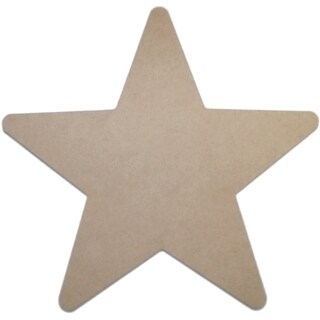 "MDF Plaque-Star 11.5""X11.5"""