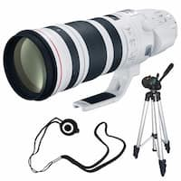 Canon EF 200-400mm f/4L IS USM Lens (International Model) + Lens Cap Keeper + Full Size Tripod Bundle