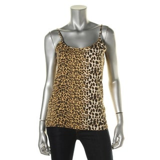 Zara W&B Collection Womens Animal Print Stretch Cami - L