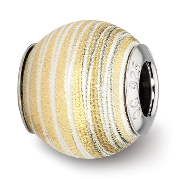 Italian Sterling Silver Reflections Gold-plated Laser Cut Bead (4mm Diameter Hole)