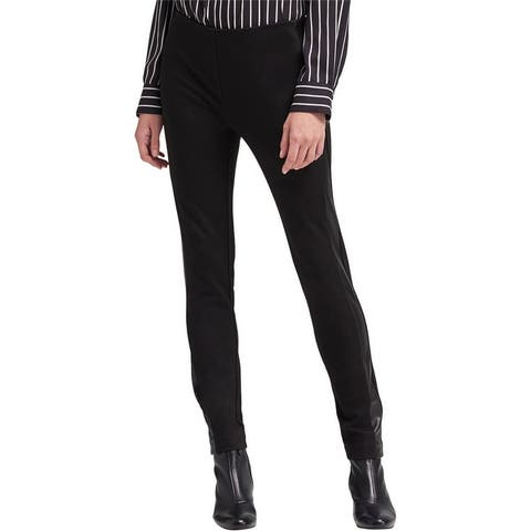 Dkny Womens Leather Stripe Casual Trouser Pants