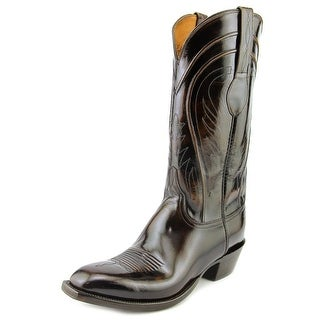 Lucchese Bn Goat Cowboy Men Pointed Toe Leather Brown Western Boot
