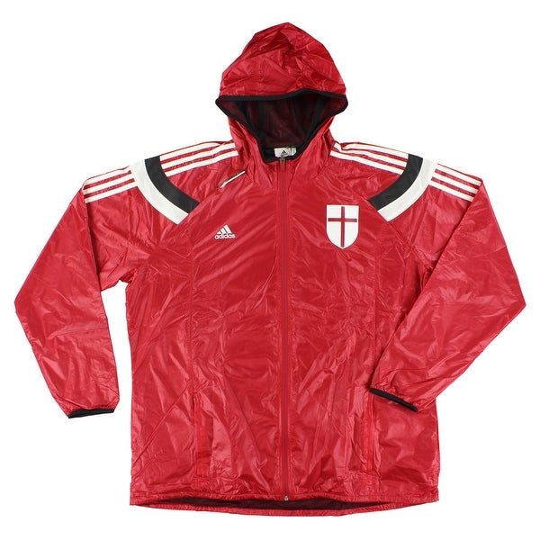 04edc3471b21 Shop Adidas Mens AC Milan Football Anthem Jacket Red - Red White Black -  Free Shipping Today - Overstock - 22544948