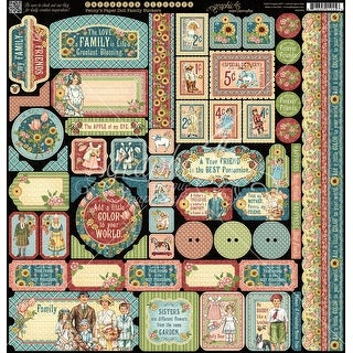 """Penny's Paper Doll Cardstock Stickers 12""""X12""""-"""